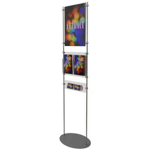 Information stand for posters, literature and business cards