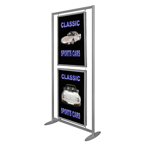 PF2: Aluminium floor stands with suspended \'snap\' frames