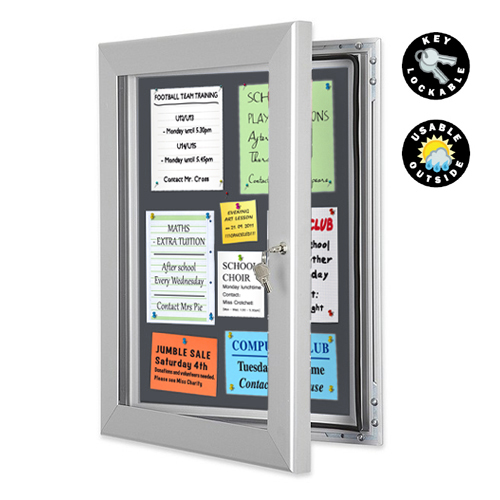 PW15: Lockable notice boards (pinboard or magnetic)