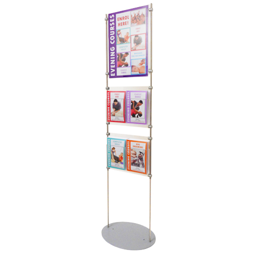 LF6A: 1.5m poster + literature stands - holders on 10mm bars