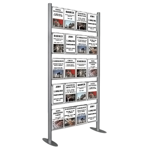 PF3A: Upright ladder displays (for hook-over poster holders)