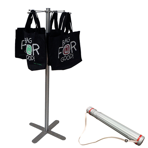 VF2C: Carrier bag stands in carry cases