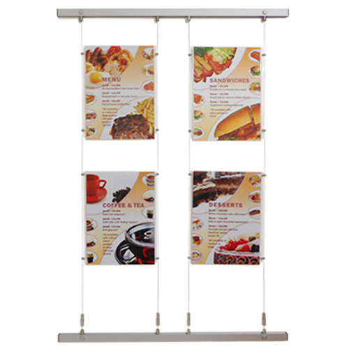 PW10X: Quick-move wall-fix poster displays