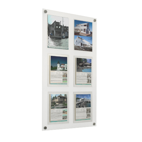PW12: Wall mount poster panels with acrylic frames