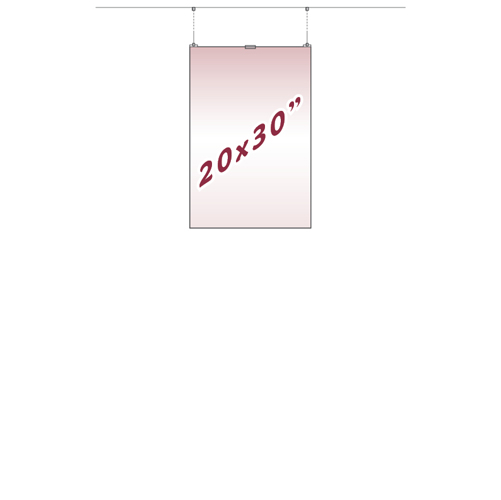20 x 30 inch hanging poster holder