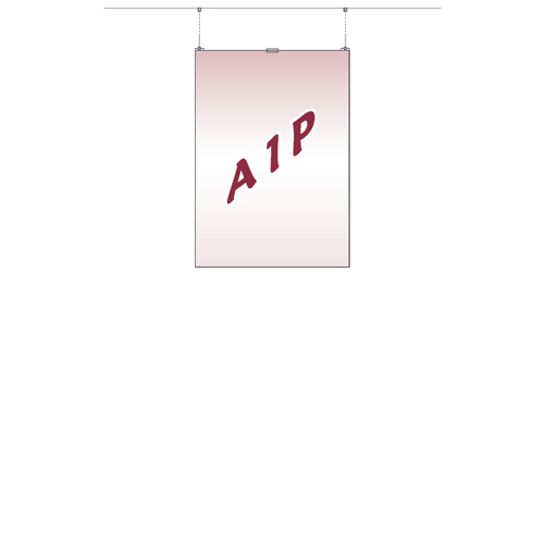Top hanging A1P acrylic poster holder