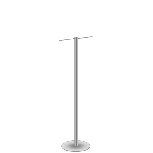 Exhibition bag stand with 2 arms