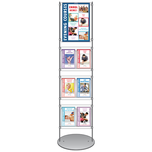 information stands - literature stand for A3 poster and A5 brochures